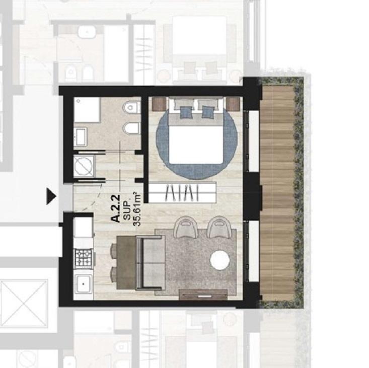 A2.2 Bilocale di Nuova Costruzione Porta Romana Milano - Vasari3
