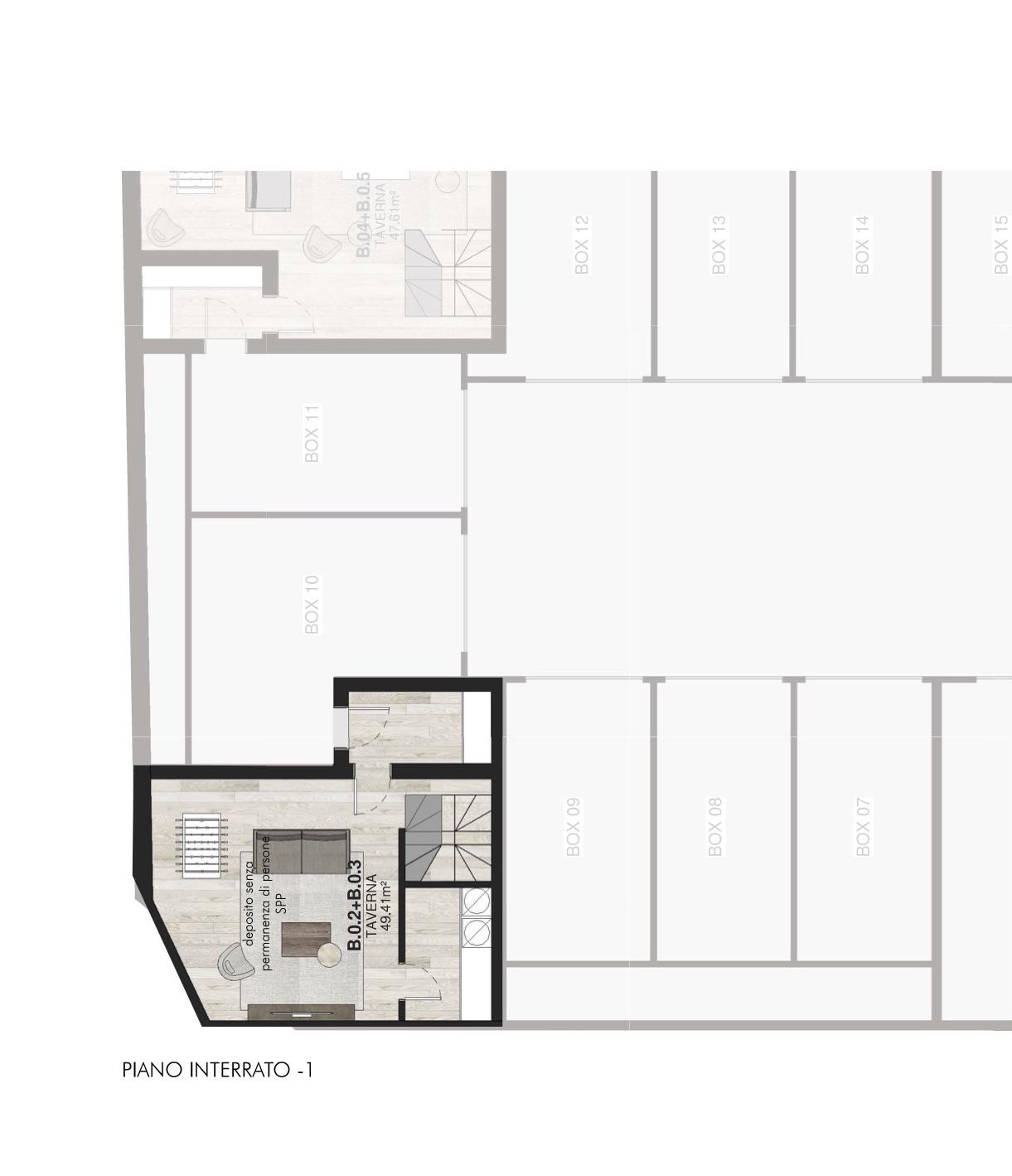B0.2 + B0.3 TOP Appartamenti con giardino Porta Romana Milano - Vasari 3