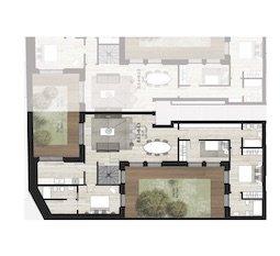 B0.2 + B0.3 Appartamenti con giardino di Nuova Costruzione Porta Romana Milano - Vasari3