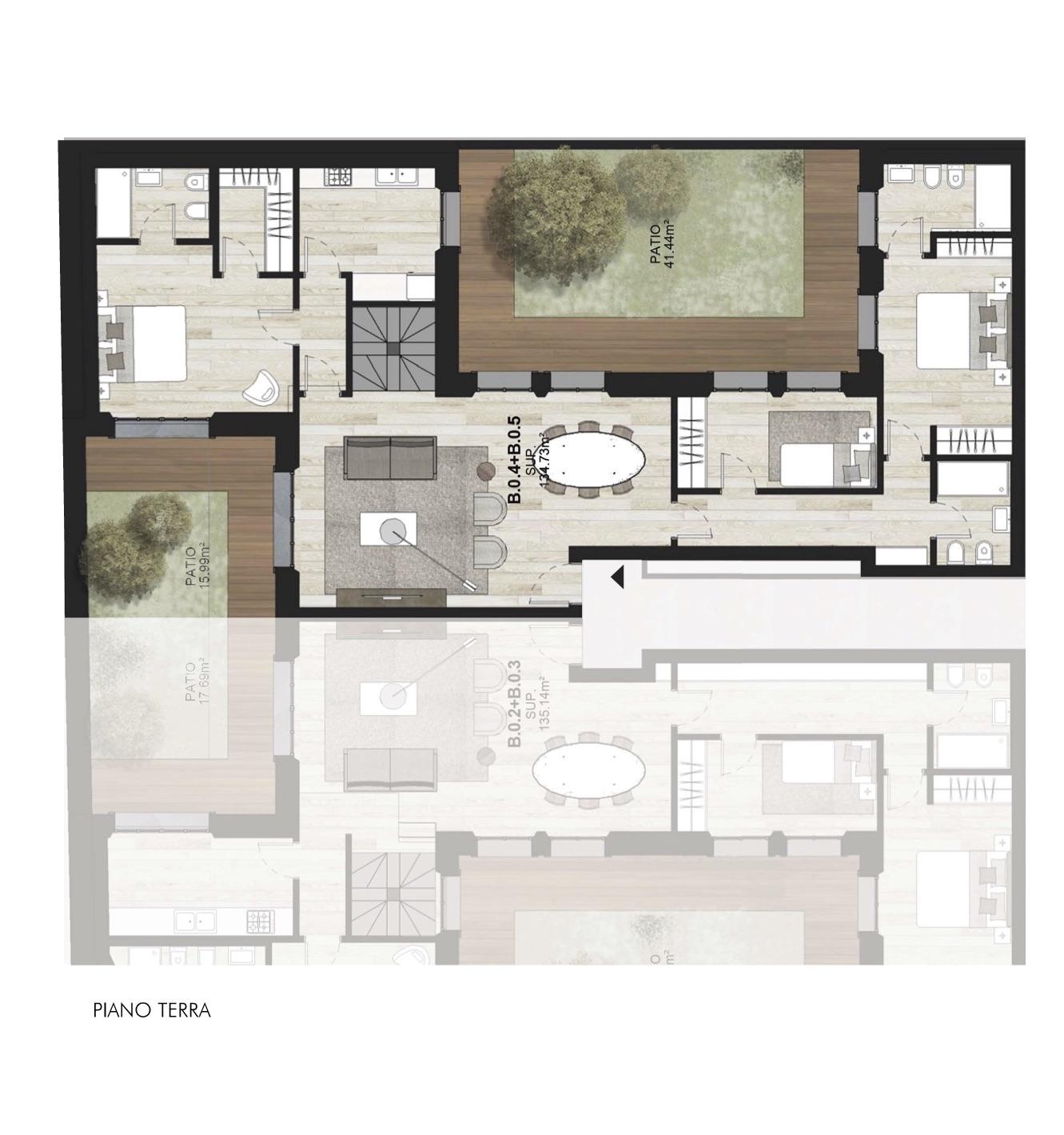 B0.4 + B0.5 Appartamenti con giardino Porta Romana Milano - Vasari 3