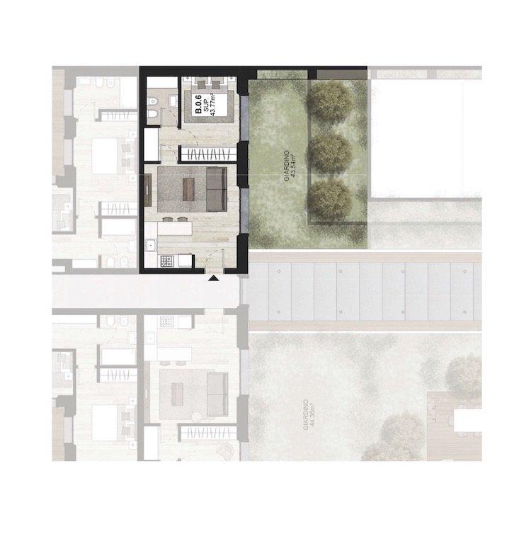 B0.6 Appartamento con giardino Porta Romana Milano - Vasari 3